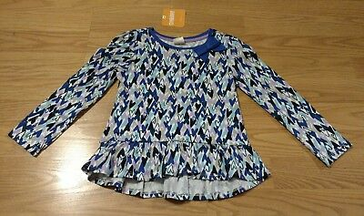 GYMBOREE Toddler Girls LS Shirt 3T Hearts Purple Navy Blue Long Sleeve NEW NWT