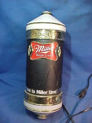 1980s MILLER BEER Illuminated BEER SIGN w MOTION Wall Mount