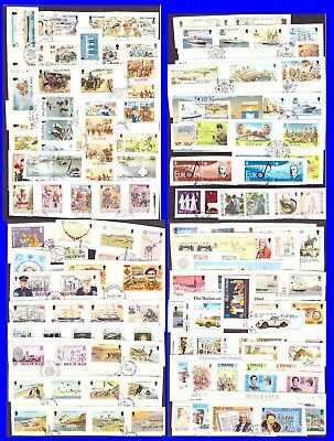 Isle Of Man Stamps & Mini Sheets. On Piece. Postmarked.  #23