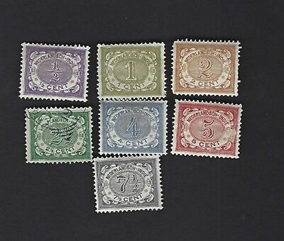 NETHERLANDS INDIES sc#38-45 MISSING #42 (1902-9) MH