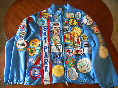 vintage jacket full of patches skypark air race Bahamas Mexico States 3 of 5