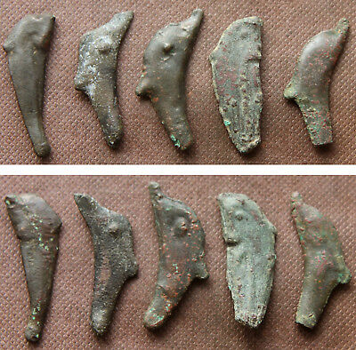 "THRACE / OLBIA - 5 DOLPHIN MONEY ""COINS"" c. 5th-4th Century BC"