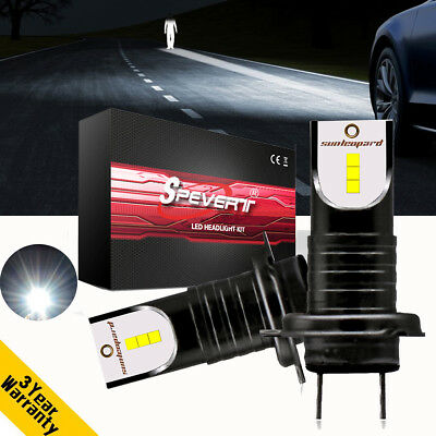 H7 CSP Chip Car LED Headlight Kit 110W 26000LM 6000K Replace Xenon Halogen Bulbs