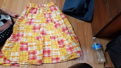 One Step Up Girls Long Plaid Skirt Size 10/12