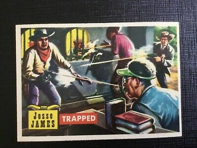 1956 Topps Round Up  Card 56 Trapped  Nearmint
