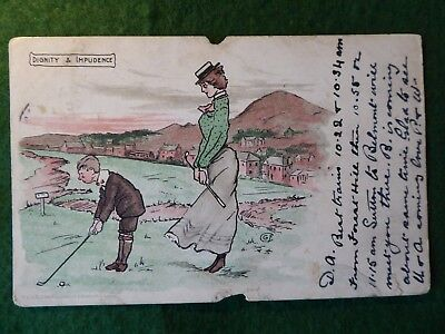 Golf Humour. George Fyfe Christie. 1911.  Undivided Back.
