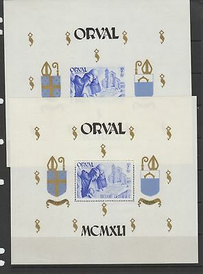 Belgium 1941 Orval Perf / Imperf sheets MNH