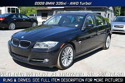 3-Series 335i xDrive 2009 BMW 335xi AWD Turbo Rebuildable Car Repairable Damaged Wrecked