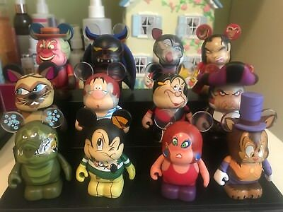 Disney Vinylmation Villains 3 FULL COLLECTION INCLUDING CHASER BASICALLY NEW