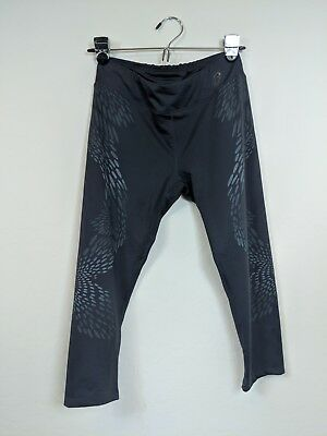 Asics Women's Cropped/Capri Activewear Stretch Running Pants, Gray, Size Small S