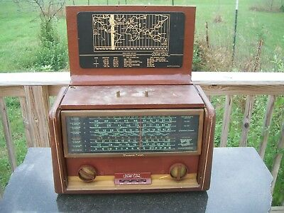Hallicrafters World Wide Transoceanic AM SW Ham Tube Radio TW-2000  -  AS IS