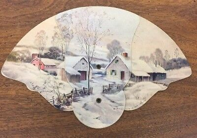 Vintage 1948 Hadland Scene Dillavou States Attorney Advertising Fan