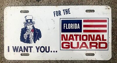 1970s Uncle Sam I WANT YOU for the Florida National Guard License Plate