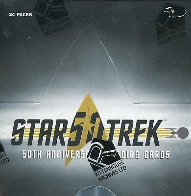 STAR TREK 50th ANNIVERSARY SEALED TRADING CARD BOX