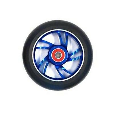 Scooter Wheel Alloy 100mm with Abec 9 Bearing Blue Core Razor Style Wheel