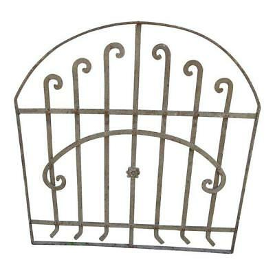 Antique Victorian Iron Gate Window Garden Fence Architectural Salvage Door #174