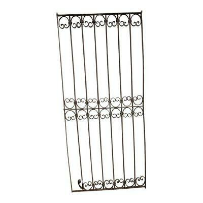 Antique Victorian Iron Gate Window Garden Fence Architectural Salvage Door #354