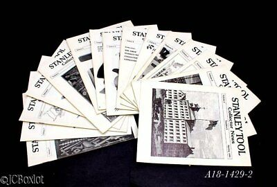 15 issues john walter STANLEY PLANE TOOLS COLLECTOR NEWS millers patent 45 55 1