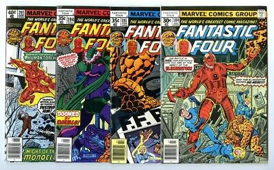 Fantastic Four #184,191,194,207 Avg VF/NM New Marvel Bronze Copper Collection