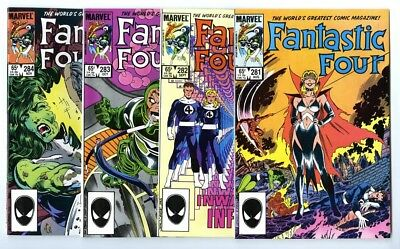 Fantastic Four #281,282,283,284 Avg NM New Marvel Bronze Copper Collection