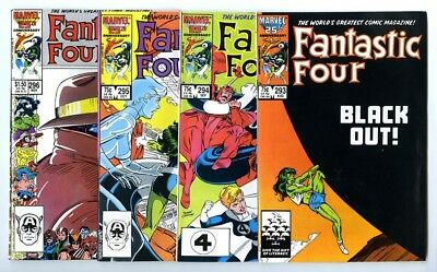 Fantastic Four #293,294,295,296 Avg NM New Marvel Bronze Copper Collection