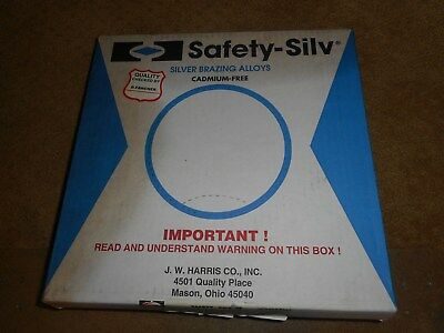 Harris Safety Silv Silver Brazing Alloy In Box