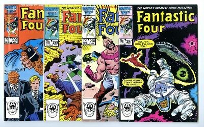 Fantastic Four #297,298,299,300 Avg NM New Marvel Bronze Copper Collection