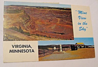 Vintage Obsolete Mine View In The Sky Virginia Minnesota Postcard