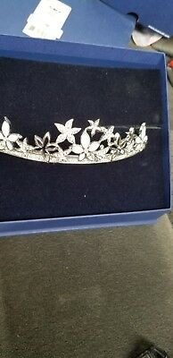 bridal tiara swarovski. Stayed in box wore once. Great condition