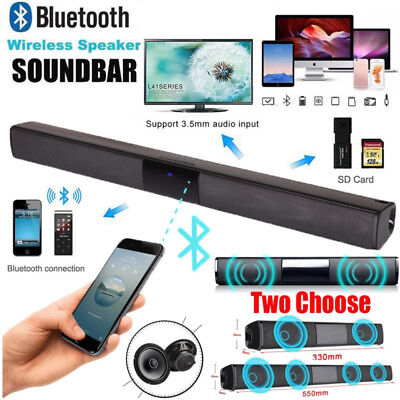 Soundbar TV Speaker Bluetooth Wireless Home Theater Sound Bar HiFi Subwoofer