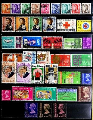 Hong Kong, British: 1950's To 70's Stamp Collection