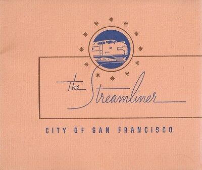 """BOOKLET - the Streamliner  """"City of San Francisco""""   1940"""