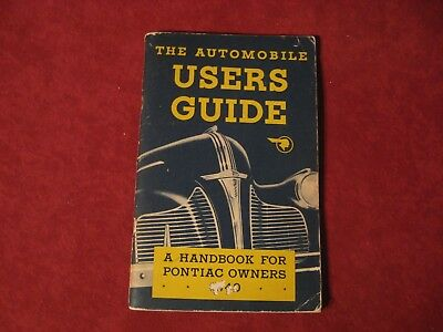 1940 Pontiac Owner's Manual User's Guide Booklet Brochure Operators