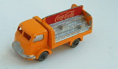 1950s MATCHBOX LESNEY w GREY METAL WHEEL COCA COLA DELIVERY TRUCK CLEAN #2