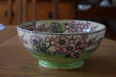 Lustre Maling Bowl With Decoration Of Cherry Blossom
