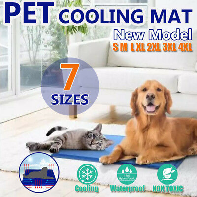 Pet Cool Gel Mat Dog Cat Bed Non-Toxic Cooling Dog Summer Pad 7 Sizes FAST POST