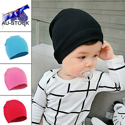 Toddler Hat Infant Cotton Knit Stretchy Baby Cap Newborn Casual Soft Warm Beanie