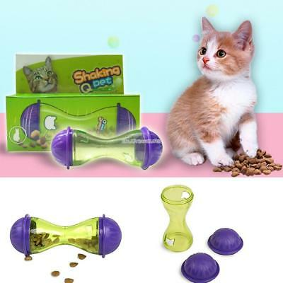 Cat Dog Feeder Plastic Funny Pet Food Dispenser Treat Ball Puppy Leakage Toy Y