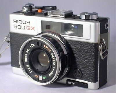 VINTAGE RICOH 500 GX 35mm RANGE FINDER - UBER LOMOGRAPHY CAMERA
