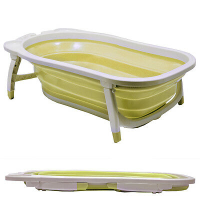 BABY - Splashy Plastic Folding Baby Bath - White / Lemon KT3316