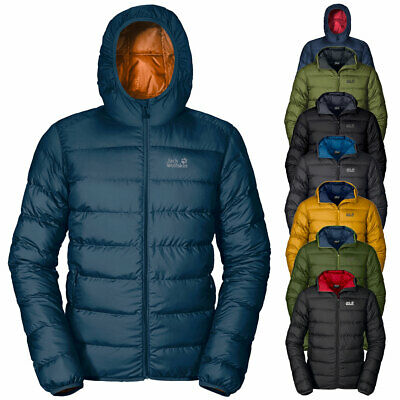 Jack Wolfskin Mens Helium Down Insulated Winter Hooded Jacket Coat