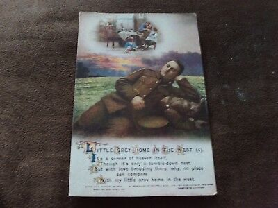 """Postcard Bamforth Song card """"Little Grey Home in the West 4""""Very good condition."""