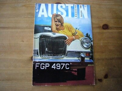 Austin Magazine, Jan 1966, very rare factory-issued mag, very good condition