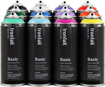 Ironlak Basic Spray Paint 12 Pack