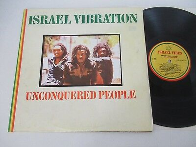Israel Vibration/unconquered People  Lp 1980 Jam Israel Vibes Tuff Gong None