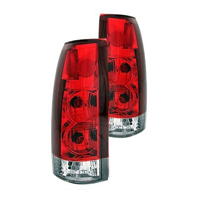 For Cadillac Escalade 1999-2000 Anzo 211140 Chrome/Red Euro Tail Lights