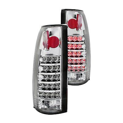 For Cadillac Escalade 1999-2000 Anzo 311058 Chrome LED Tail Lights