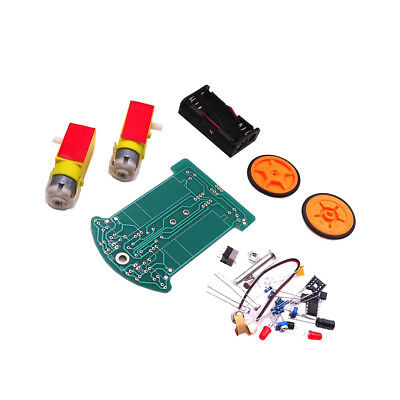 Smart Tracking Robot Car Electronic DIY Kit Reduction Motor and Battery Box