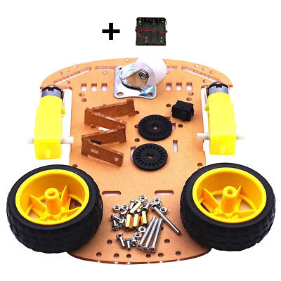 Smart Robot Car Chassis Kit + Speed Encoder Battery Box for Arduino