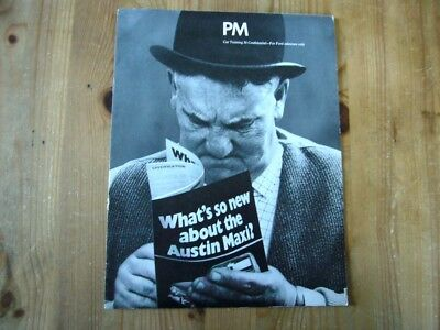 Extremely rare: 1969 Ford salesman's brochure on the Austin Maxi launch, superb
